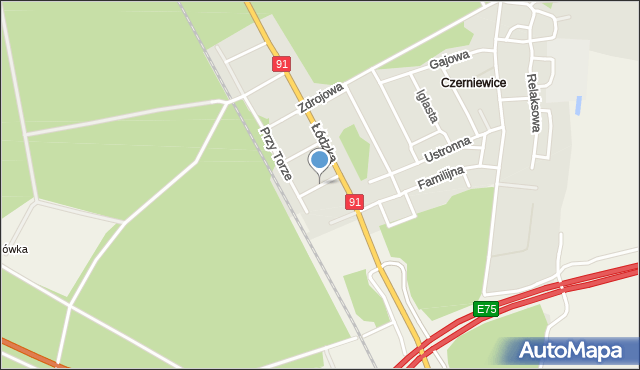 Toruń, Pszczelna, mapa Torunia