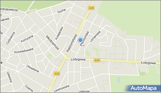 Warszawa, Pszczyńska, mapa Warszawy