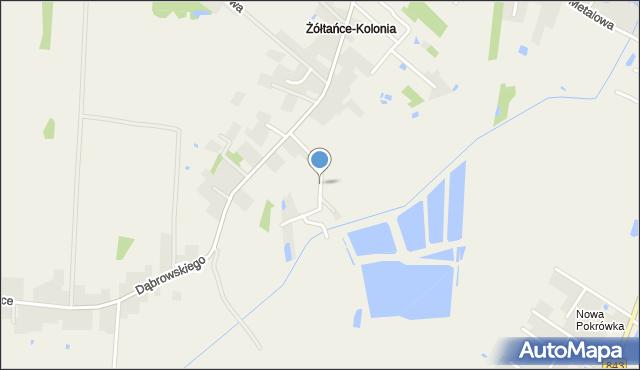 Żółtańce-Kolonia, Pstrągowa, mapa Żółtańce-Kolonia