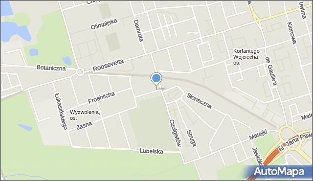 Zabrze, Ptasia, mapa Zabrza