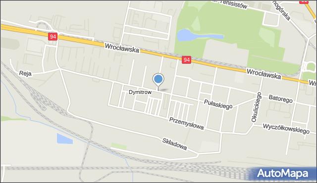 Bytom, Pułaskiego Kazimierza, gen., mapa Bytomia