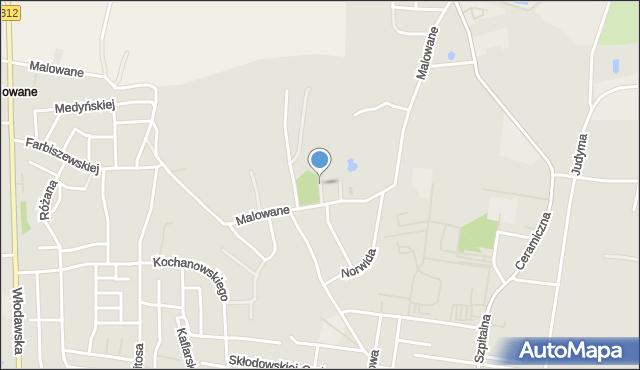 Chełm, Puławska, mapa Chełma