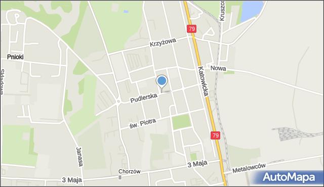 Chorzów, Pudlerska, mapa Chorzów