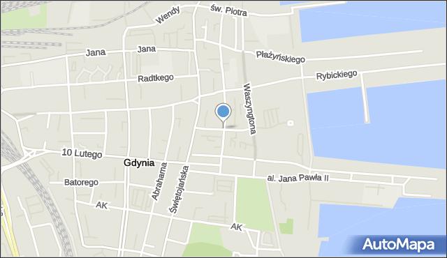 Gdynia, Pułaskiego Kazimierza, gen., mapa Gdyni