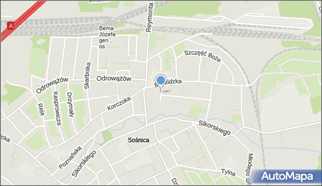 Gliwice, Pusta, mapa Gliwic