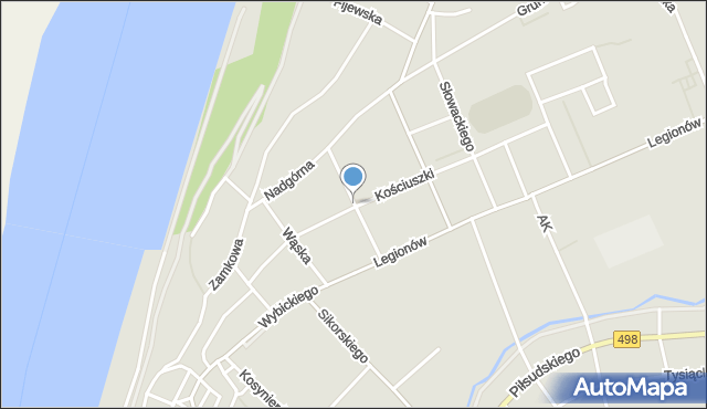 Grudziądz, Pułaskiego, mapa Grudziądza