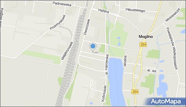 Mogilno, Pułaskiego Kazimierza, gen., mapa Mogilno