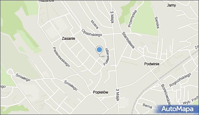 Przemyśl, Pułaskiego Kazimierza, gen., mapa Przemyśla