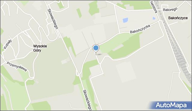 Przemyśl, Pusta, mapa Przemyśla