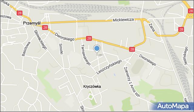 Przemyśl, Puszkina Aleksandra, mapa Przemyśla