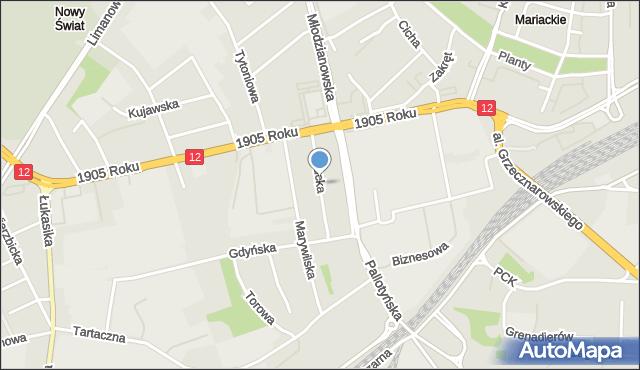 Radom, Pucka, mapa Radomia