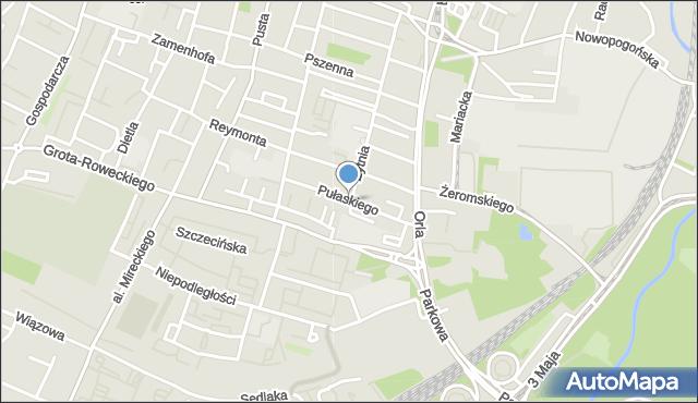 Sosnowiec, Pułaskiego Kazimierza, gen., mapa Sosnowca