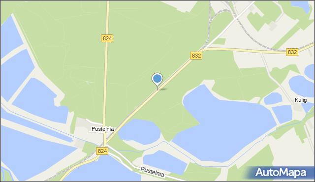 Wola Rudzka, Pustelnia, mapa Wola Rudzka