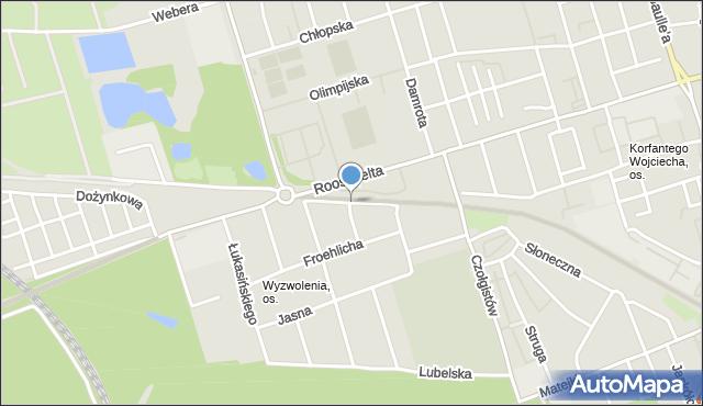 Zabrze, Puchałki Tomasza, mapa Zabrza