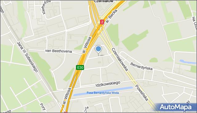 Warszawa, Pyjasa Stanisława, mapa Warszawy