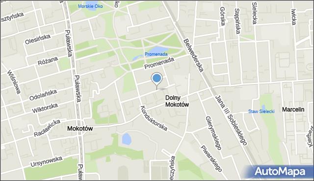 Warszawa, Pytlasińskiego Władysława, mapa Warszawy