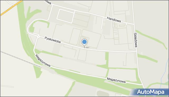 Zabrze, Pyskowicka, mapa Zabrza