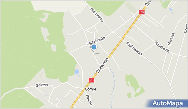 Bytom, Radosna, mapa Bytomia