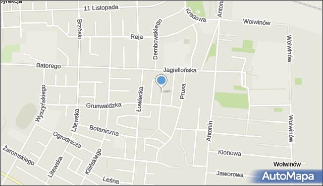 Chełm, Racławicka, mapa Chełma