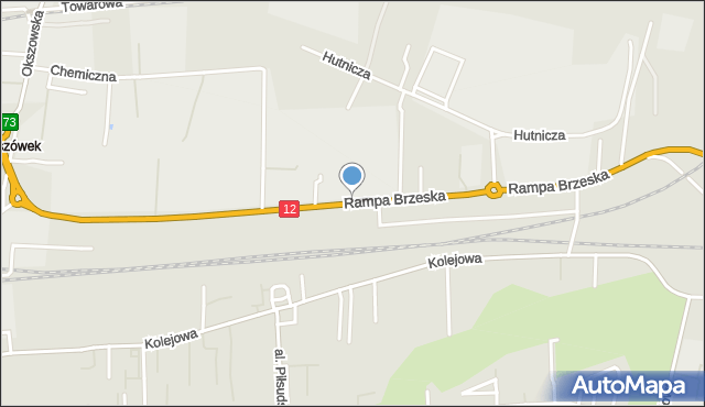 Chełm, Rampa Brzeska, mapa Chełma