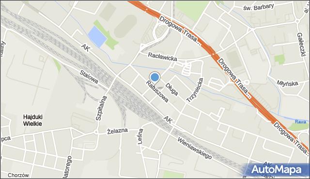 Chorzów, Ratuszowa, mapa Chorzów