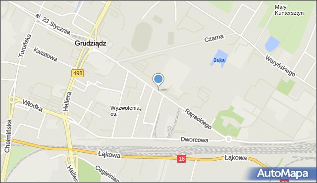 Grudziądz, Rapackiego, mapa Grudziądza