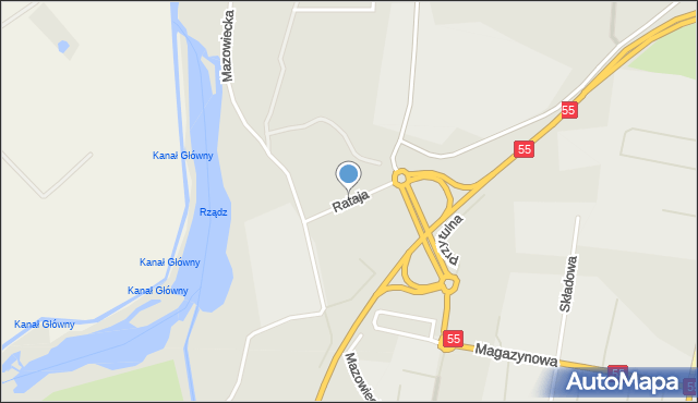 Grudziądz, Rataja Macieja, mapa Grudziądza