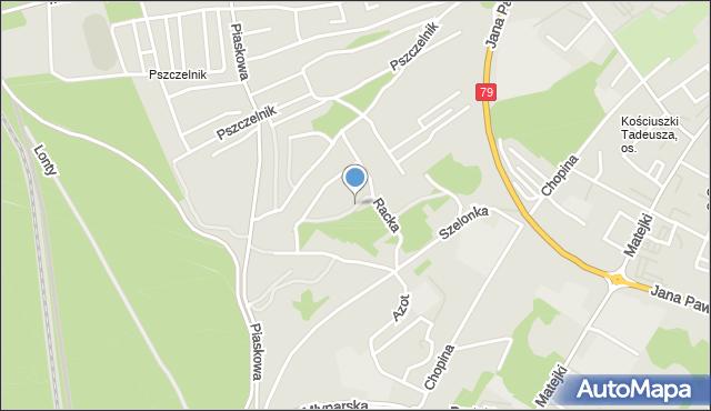 Jaworzno, Racka Franciszka, mapa Jaworzno