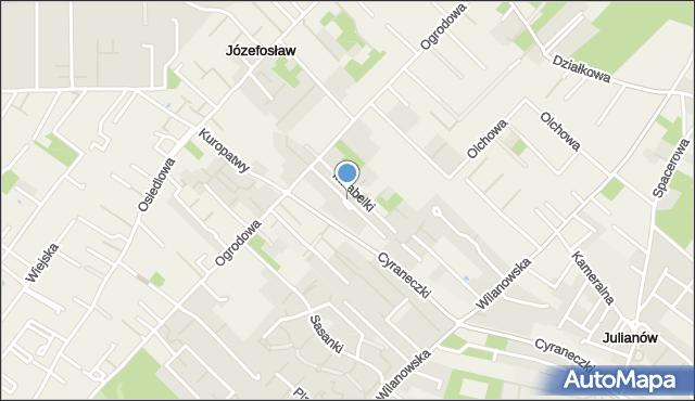 Józefosław, Rajskiej Jabłoni, mapa Józefosław