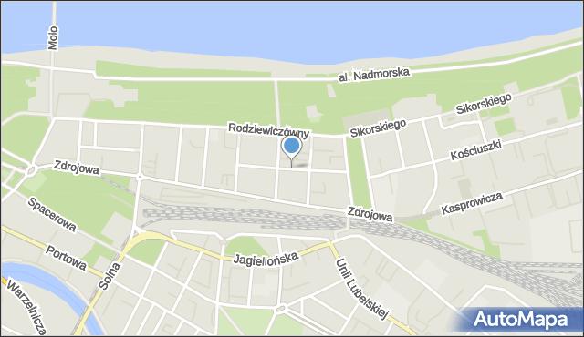 Kołobrzeg, Rafińskiego Teodora, prof., mapa Kołobrzegu