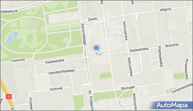 Łódź, Radwańska, mapa Łodzi