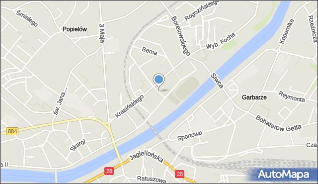 Przemyśl, Racławicka, mapa Przemyśla