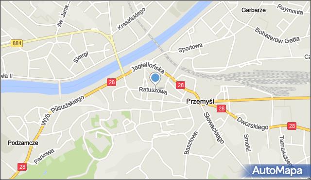 Przemyśl, Ratuszowa, mapa Przemyśla