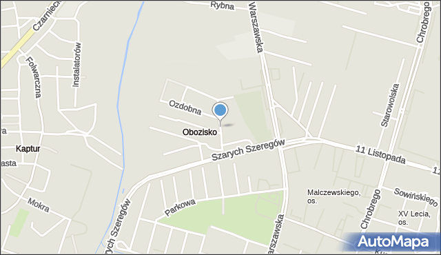 Radom, Radosna, mapa Radomia