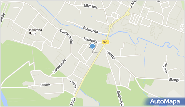 Ruda Śląska, Racławicka, mapa Rudy Śląskiej
