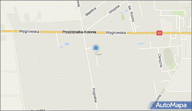 Sokołów Podlaski, Radosna, mapa Sokołów Podlaski