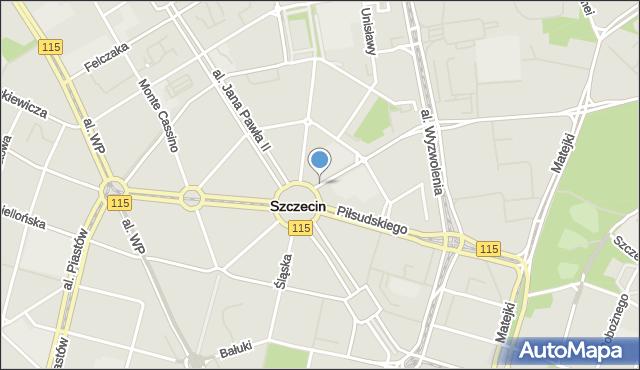Szczecin, Rayskiego Ludomiła, gen., mapa Szczecina