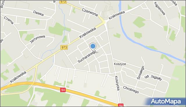 Tarnów, Raginisa Władysława, mjr., mapa Tarnów