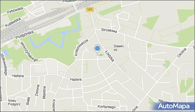 Toruń, Radiowa, mapa Torunia