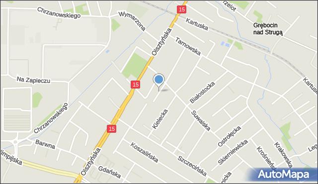 Toruń, Radomska, mapa Torunia