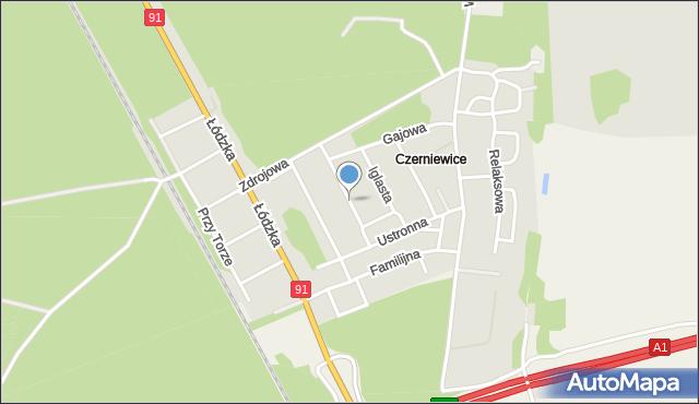Toruń, Radosna, mapa Torunia
