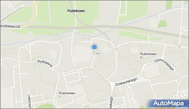Toruń, Rakowicza Franciszka Tadeusza, mapa Torunia