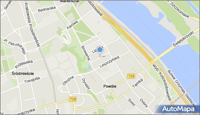 Warszawa, Radna, mapa Warszawy