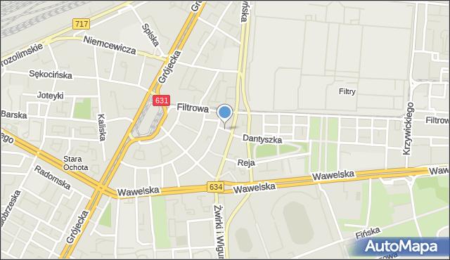 Warszawa, Rapackiego Wincentego, mapa Warszawy
