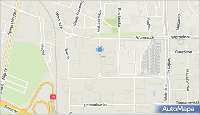 Warszawa, Racjonalizacji, mapa Warszawy