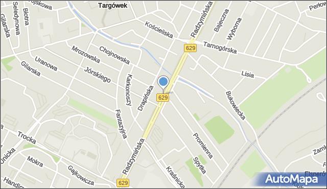 Warszawa, Radzymińska, mapa Warszawy