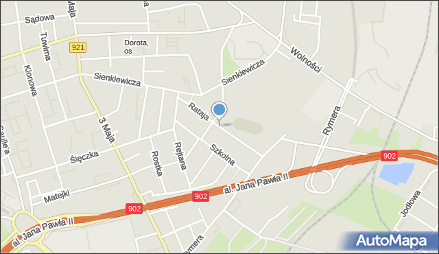 Zabrze, Rataja Macieja, mapa Zabrza