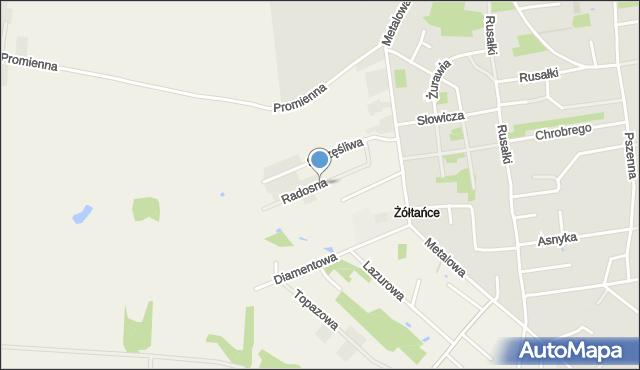 Żółtańce-Kolonia, Radosna, mapa Żółtańce-Kolonia