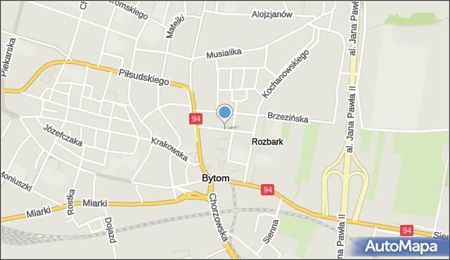 Bytom, Reymonta Władysława, mapa Bytomia