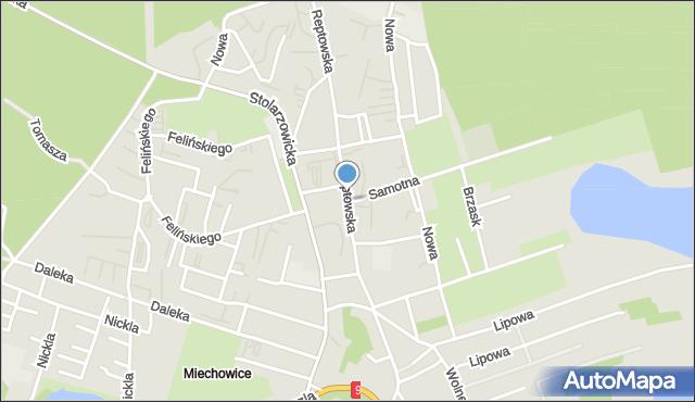 Bytom, Reptowska, mapa Bytomia